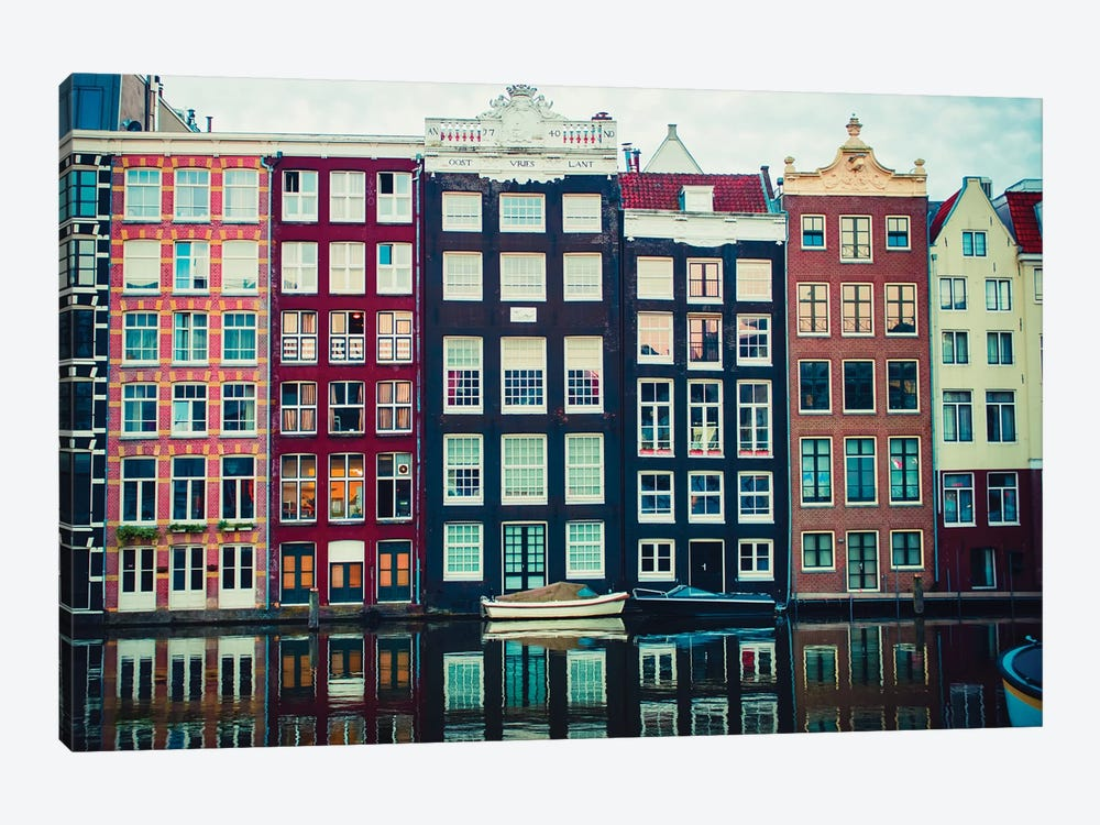 Canal Vibes I by Sonja Quintero 1-piece Canvas Wall Art