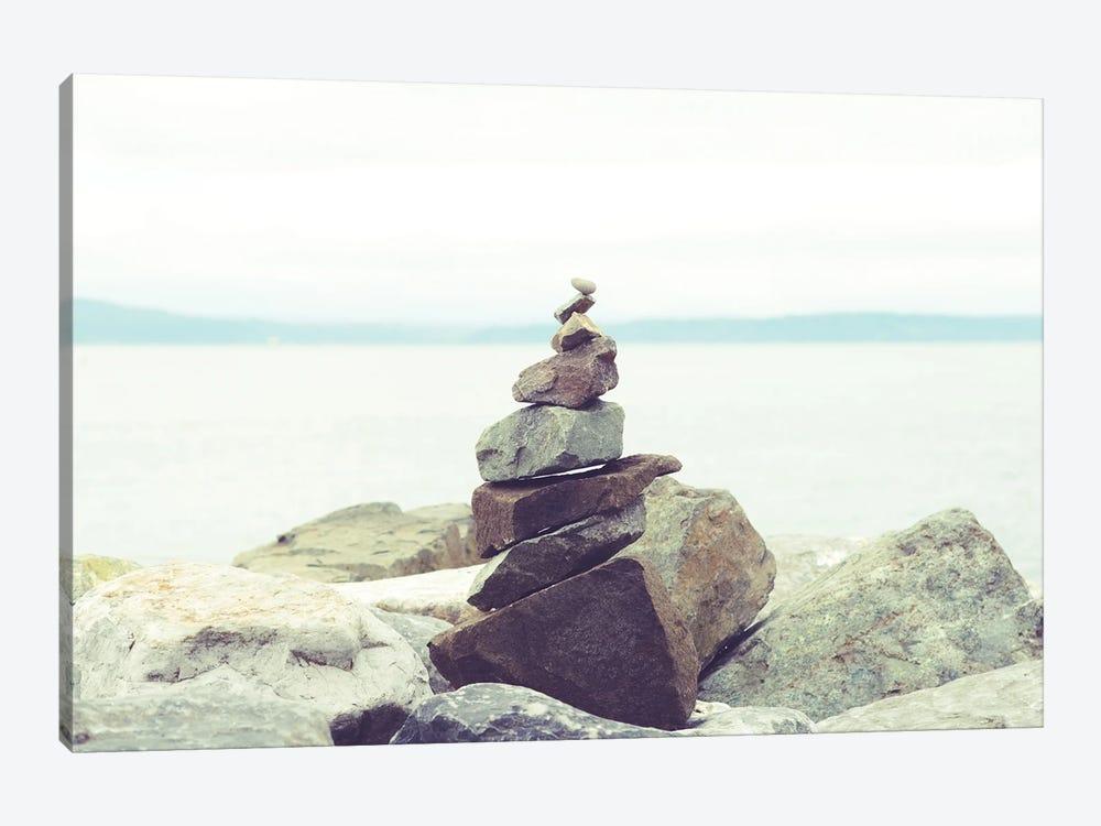 Bay Rocks II by Sonja Quintero 1-piece Canvas Print