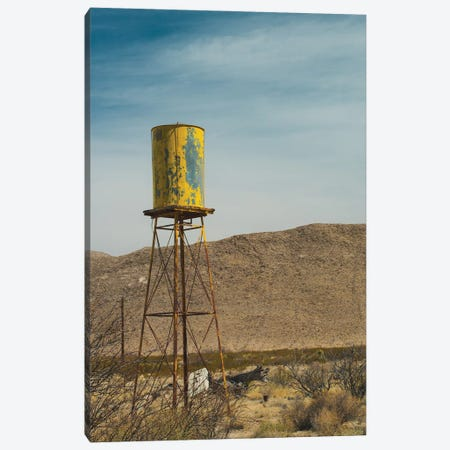 Yellow Water Tower I Canvas Print #QNT56} by Sonja Quintero Canvas Wall Art