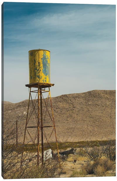 Yellow Water Tower I Canvas Art Print