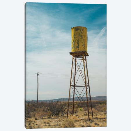 Yellow Water Tower II Canvas Print #QNT57} by Sonja Quintero Canvas Art