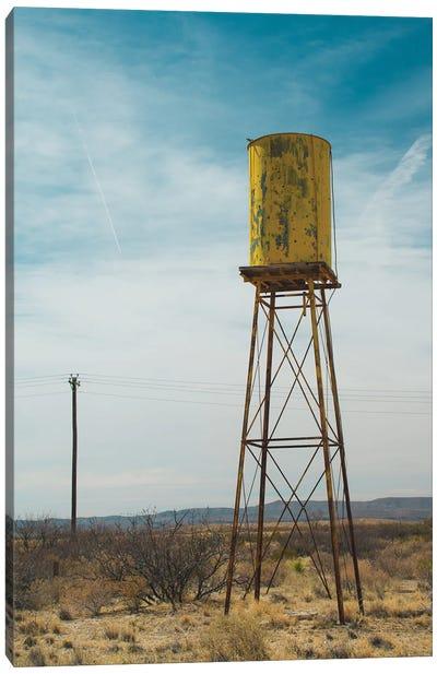 Yellow Water Tower II Canvas Art Print
