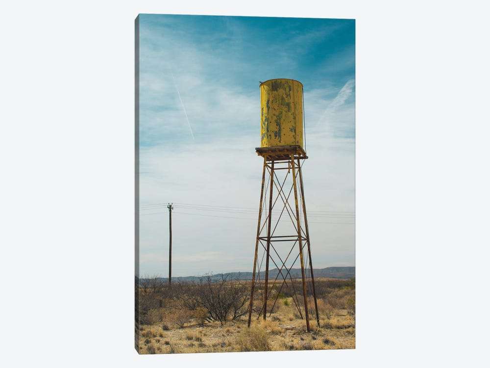 Yellow Water Tower II by Sonja Quintero 1-piece Canvas Wall Art