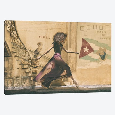 Walking In Havana Canvas Print #RAA20} by Joan Gil Raga Canvas Art Print