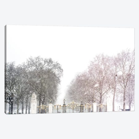 London Snow Day Canvas Print #RAB109} by Ruby and B Art Print