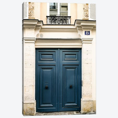 Paris Door III Canvas Print #RAB113} by Ruby and B Canvas Artwork