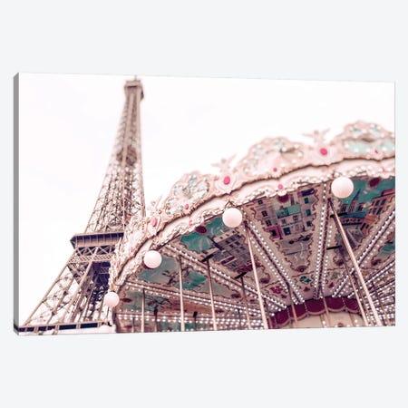 Paris Carousel VI Canvas Print #RAB118} by Ruby and B Canvas Wall Art