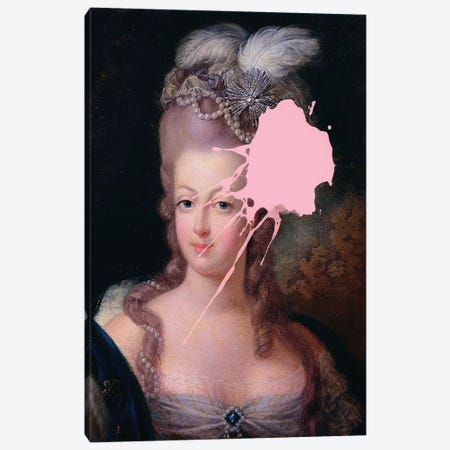 Marie Antoinette Pink Paint Canvas Print #RAB125} by Ruby and B Canvas Art