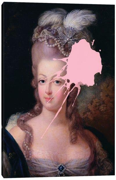 Marie Antoinette Pink Paint Canvas Art Print