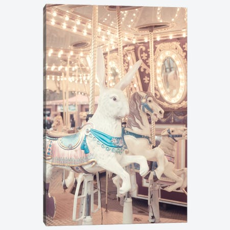 Rabbit Carousel Canvas Print #RAB126} by Ruby and B Canvas Art