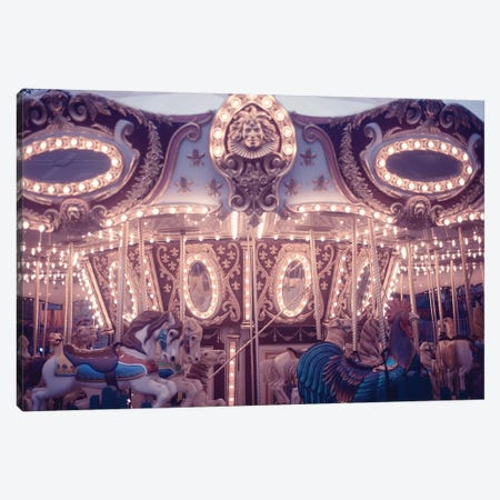 Winter Carousel Canvas Print #RAB127} by Ruby and B Canvas Art