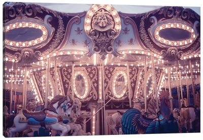 Winter Carousel Canvas Art Print