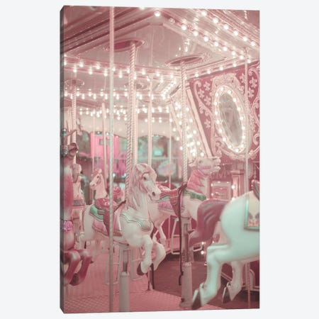 Pastel Pink Carousel Canvas Print #RAB130} by Ruby and B Canvas Art