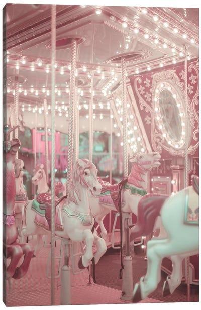 Pastel Pink Carousel Canvas Art Print