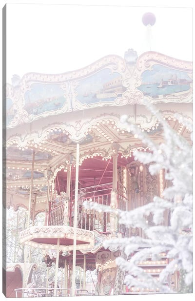 Christmas Carousel Canvas Art Print
