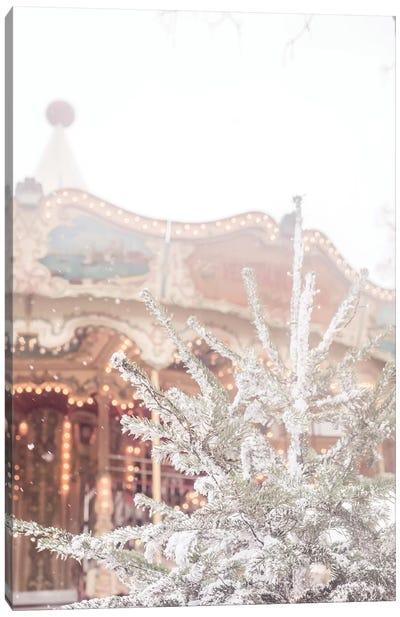 Christmas Tree Carousel Canvas Art Print
