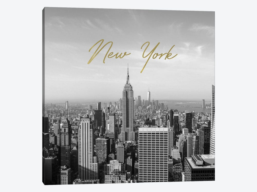 Golden New York by Ruby and B 1-piece Canvas Wall Art