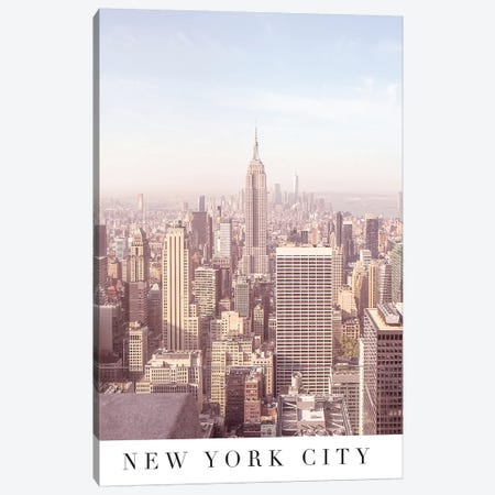 New York City Travel Poster Canvas Print #RAB145} by Ruby and B Canvas Artwork