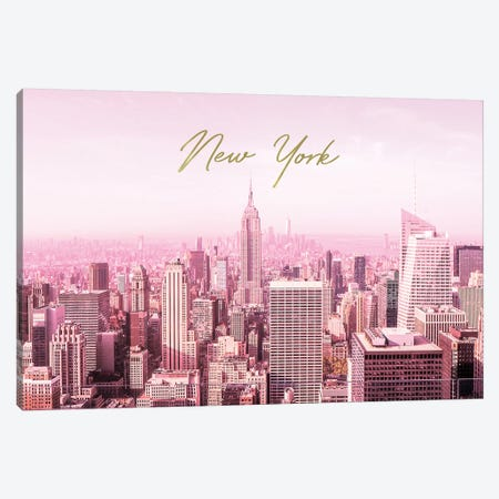 Pink New York Canvas Print #RAB146} by Ruby and B Canvas Wall Art