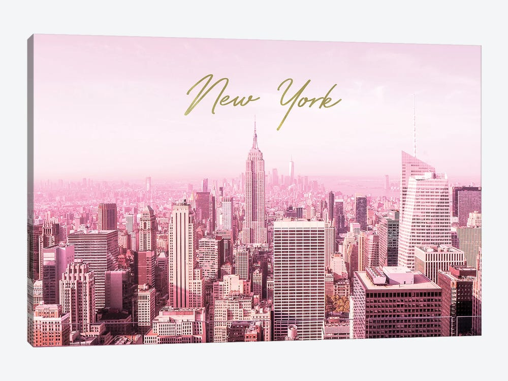Pink New York by Ruby and B 1-piece Canvas Wall Art