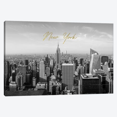 New York In Black And White Canvas Print #RAB148} by Ruby and B Art Print