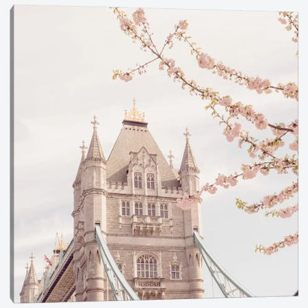 London Tower Bridge In Spring Canvas Print #RAB149} by Ruby and B Canvas Print