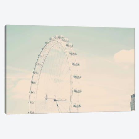 The London Eye Canvas Print #RAB152} by Ruby and B Canvas Wall Art