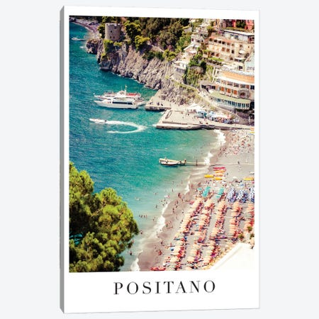 Positano Travel Poster Canvas Print #RAB160} by Ruby and B Art Print