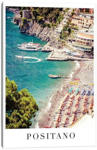 Positano Travel Poster Canvas Art Print