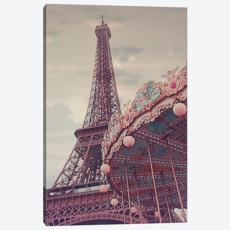 Eiffel Tower Carousel Canvas Print #RAB163} by Ruby and B Canvas Art Print