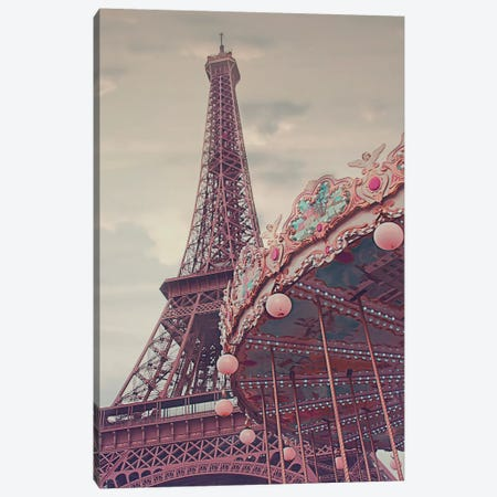 Eiffel Tower Carousel Canvas Print #RAB163} by Ruby and B Canvas Art Print