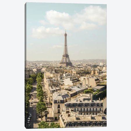 Eiffel Tower View II Canvas Print #RAB166} by Ruby and B Canvas Wall Art