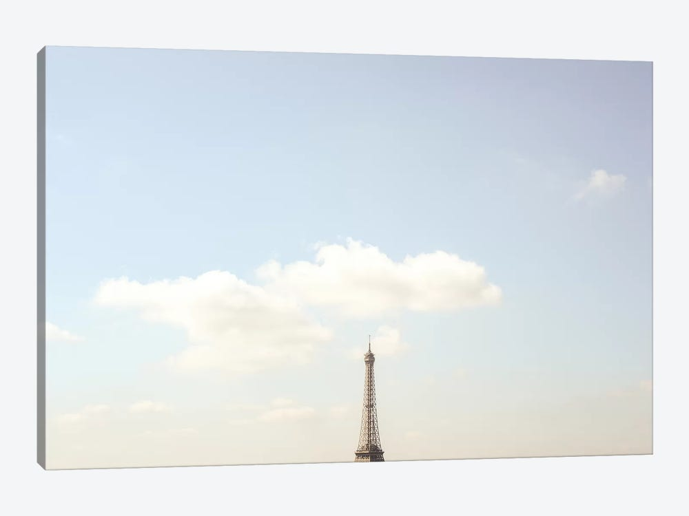 Eiffel Tower Minimalist View by Ruby and B 1-piece Canvas Art Print
