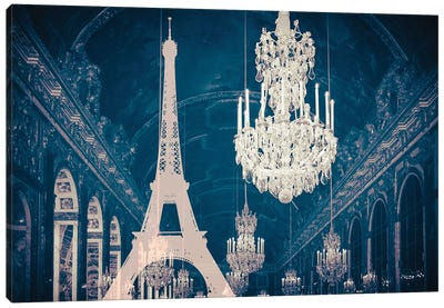 Paris Chandelier X Canvas Art Print