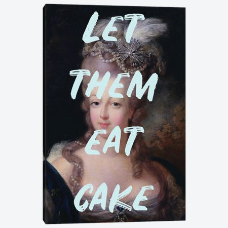 Marie Antoinette Blue Text Canvas Print #RAB173} by Ruby and B Canvas Wall Art