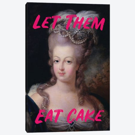 Marie Antoinette Hot Pink Text Canvas Print #RAB174} by Ruby and B Canvas Print
