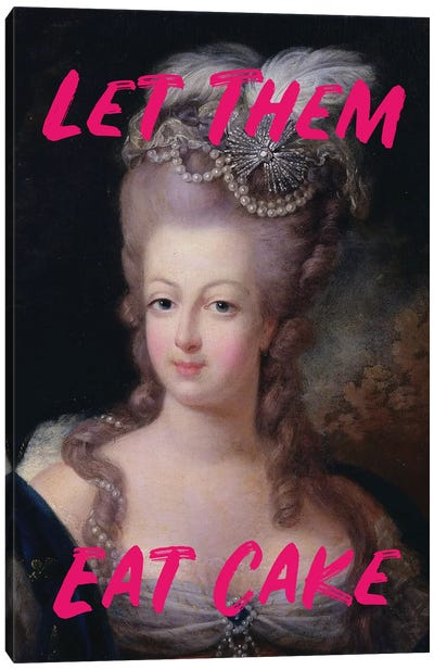Marie Antoinette Hot Pink Text Canvas Art Print
