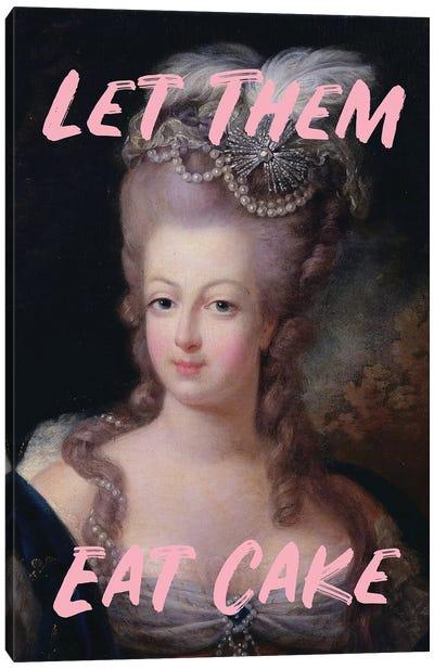Marie Antoinette Pink Text X Canvas Art Print