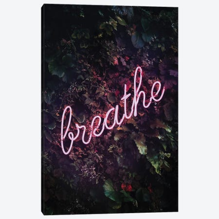 Breathe Neon Canvas Print #RAB185} by Ruby and B Canvas Art