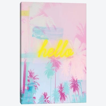 Hello Neon II Canvas Print #RAB189} by Ruby and B Canvas Print