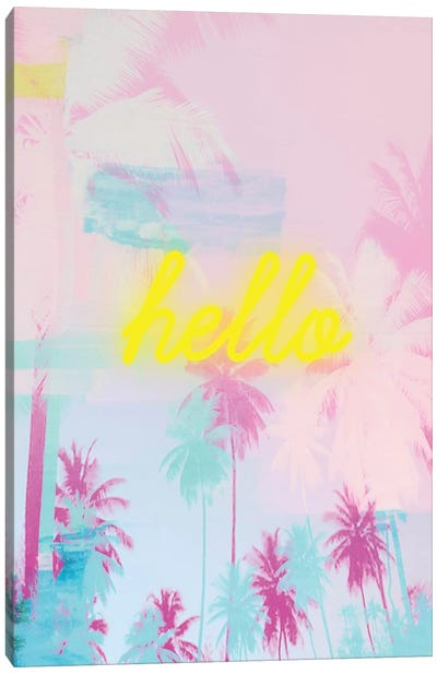 Hello Neon II Canvas Art Print