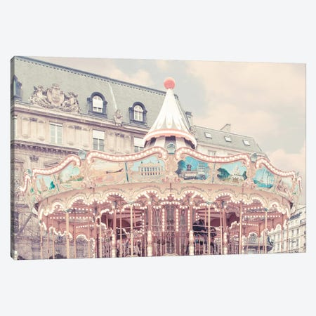 Carousel Of Paris Canvas Print #RAB18} by Ruby and B Canvas Art Print