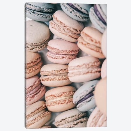 Pastel Macarons Canvas Print #RAB191} by Ruby and B Canvas Art
