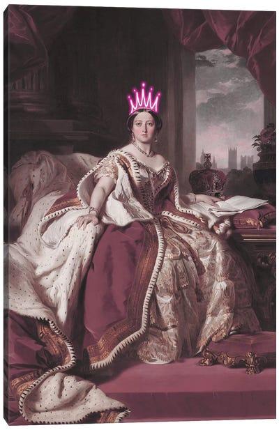 Queen Victoria Neon Canvas Art Print