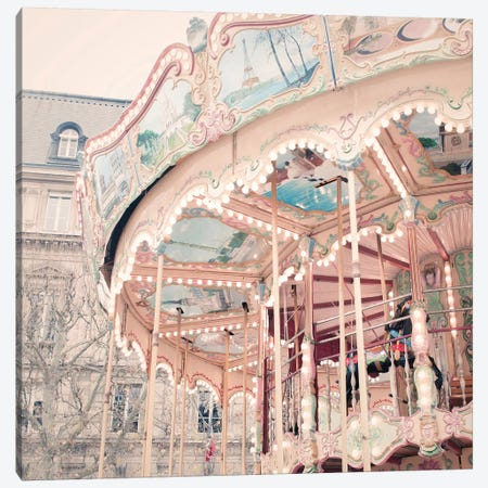 A Carousel In Paris Canvas Print #RAB1} by Ruby and B Canvas Wall Art