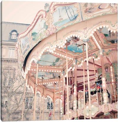 A Carousel In Paris Canvas Art Print