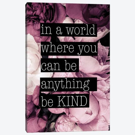 Be Kind Canvas Print #RAB204} by Ruby and B Canvas Print