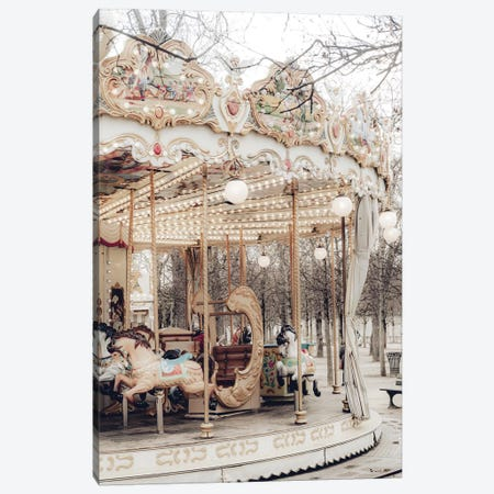 Paris Carousel X Canvas Print #RAB216} by Ruby and B Canvas Wall Art