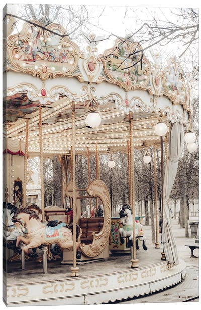 Paris Carousel X Canvas Art Print