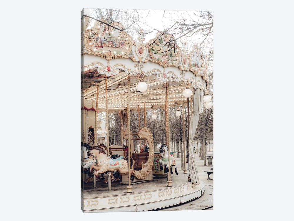 Paris Carousel X by Ruby and B 1-piece Canvas Art Print